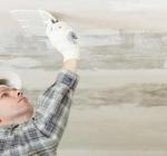Подготовка основания потолка