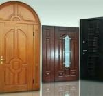 Основные виды входных дверей