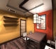 Обеденная зона, кухня в японском стиле