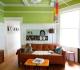 Зеленый потолок в интерьере
