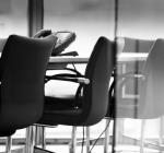 Оформление офиса в черно-белой цветовой гамме